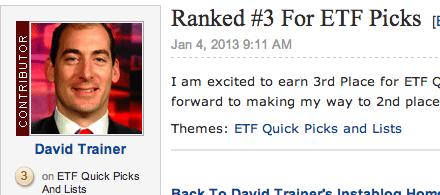 Ranked #3 for ETF Picks on Seeking Alpha