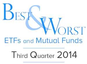 3Q Best & Worst ETFs and Mutual Funds — By Style — Recap