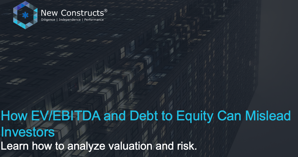 "Webinar: ""Issues with EV/EBITDA & How Debt to Equity Can Mislead Investors"" – Hosted by TD Ameritrade"