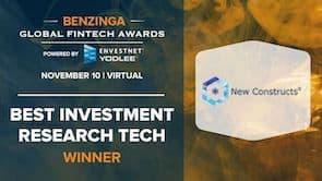Winner of Benzinga's Best Investment Research Tech Award
